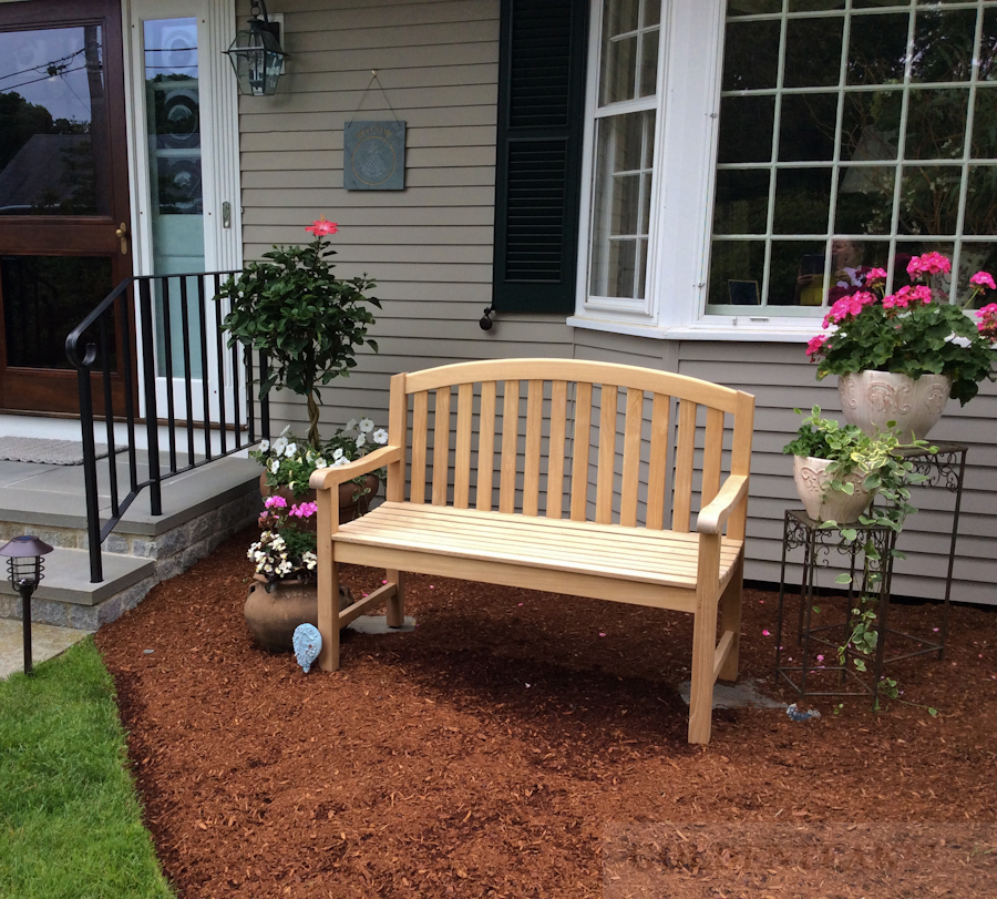 Goldenteak Teak Bench 4ft Aquinah in MA