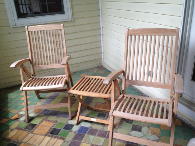 Goldenteak Teak Recliner Chairs 3031 and fottstool 3031f in Wisconsin