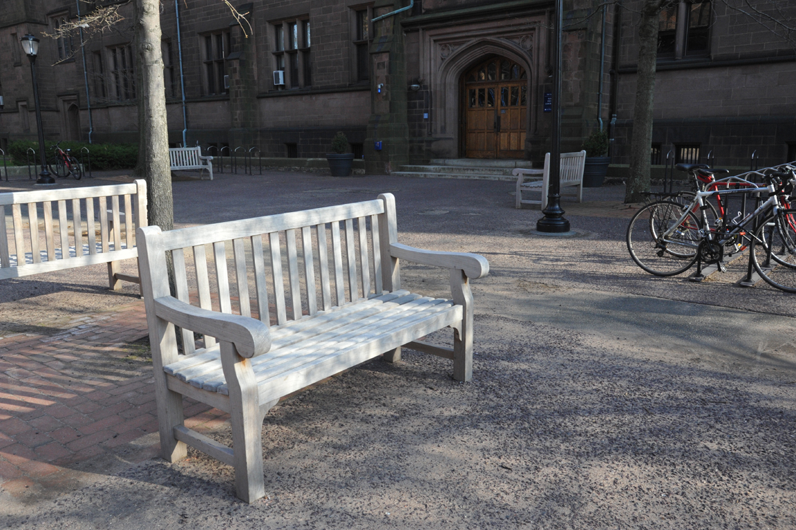 Goldenteak Teak Hyde Park Benches (HYDEPARK5) at Yale University
