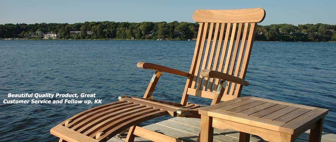Teak Chaise Lounges, Teak Steamer Chairs