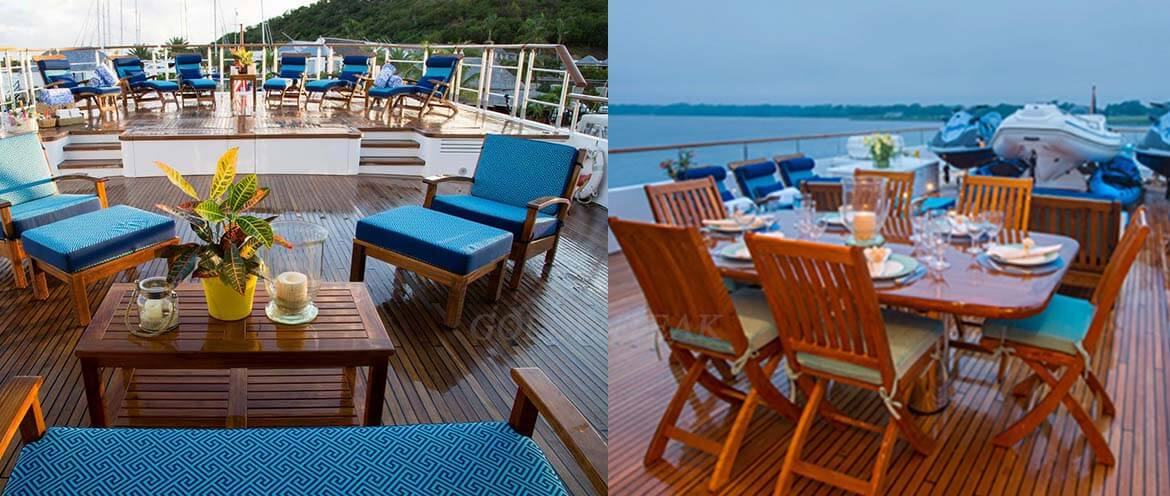 Goldenteak Premium Teak on Luxury Cruise Lines