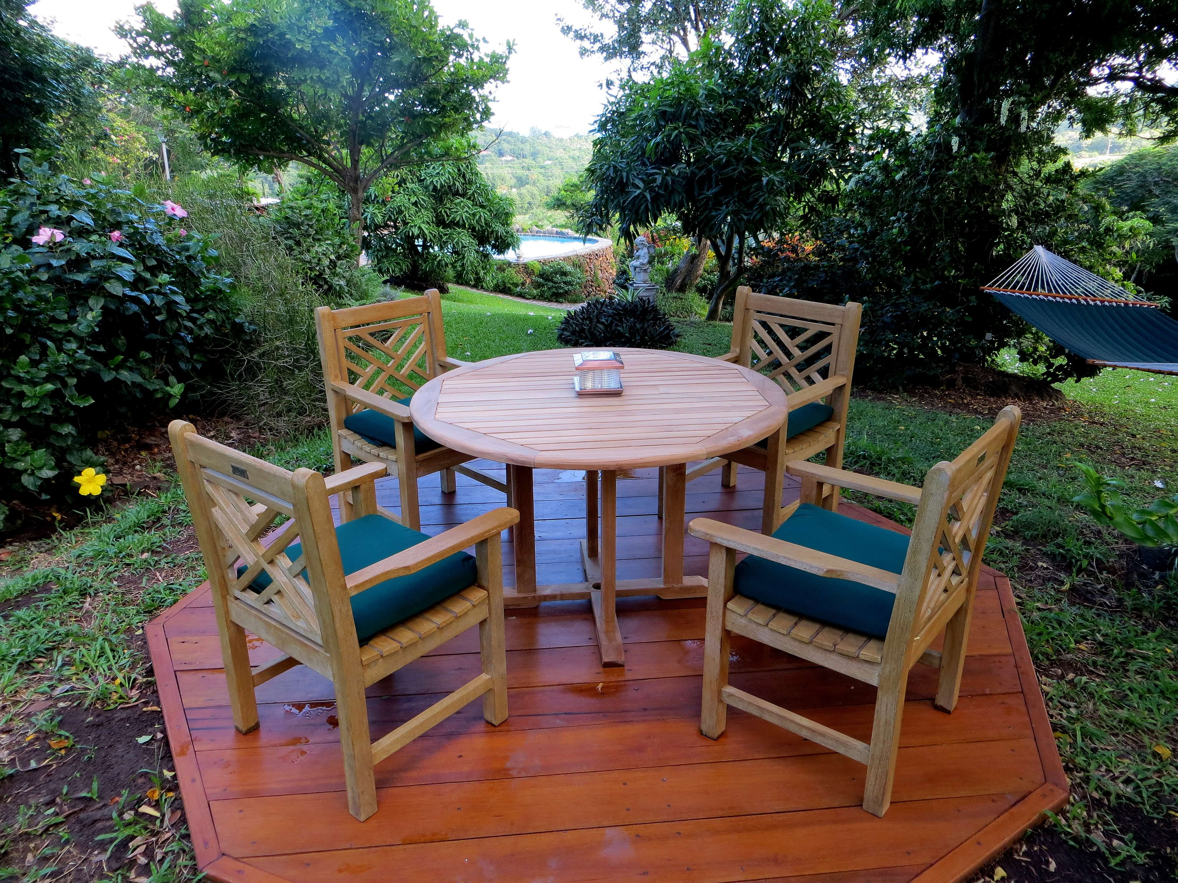 Goldenteak Customer s showing Teak Benches Teak Deep Seating