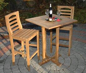 Teak Outdoor Bar Table and Chairs, Teak Bar Stools, Teak Wood ...