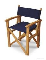 Director's Chair Teak with Sunbrella Navy 5439 fabric