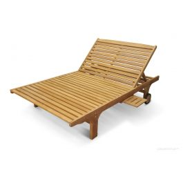 Teak Double Chaise Lounge
