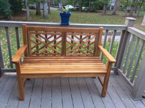 Teak Chippendale Bench 4ft - 76A - customer photo