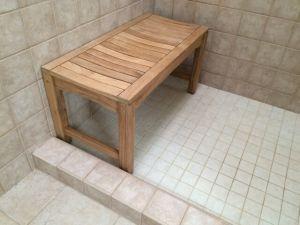 Teak Rosemont Bathroom Bench 36in Customer Photo