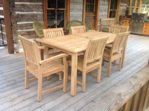 Teak Harvest Table, Millbrook Chairs Set - Customer Photo - Goldenteak