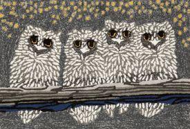 Birds Owls Outdoor Rug