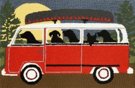 Microbus Red Outdoor Rug