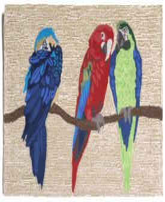 Parrots Outdoor Rug