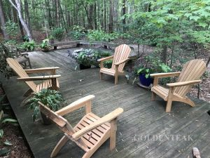 Adirondacks on Deck - Customer Photo Goldenteak