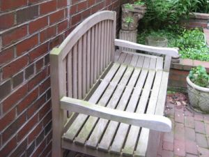 Teak Aquinah Bench from Goldenteak - urban garden-customer photo