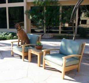 Teak Deep Seating Club Chair and best friend - customer photo