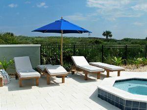 Goldenteak Teak Chaise Lounge Sun Loungers in Florida