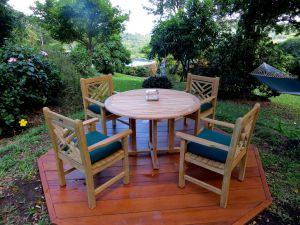 Teak Dining Set Padua Table, Chippendale Chairs - Customer Photo