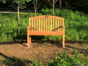 Teak Aquinah Bench Customer Photo - Illinois