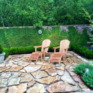 Goldenteak Teak Adirondack Chair Customer Photo