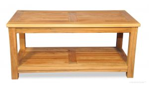 Teak Large Coffee Table, with shelf