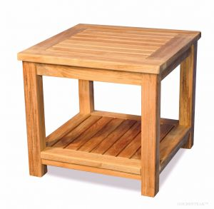 Teak Small Coffee Table or end table, with shelf
