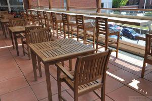 Memorial Hall Library Andover Teak Roof Deck - Customer Photo Goldenteak