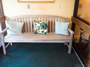Teak Aquinah Bench at Nevins Senior Center - Customer Photo