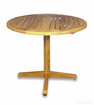 Teak Pedestal Table Round 36 inch