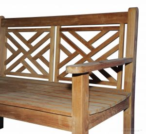 Teak Bench Chippendale 4 Ft