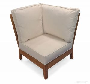 Teak Deep Seating CORNER UNIT with cushions - Belvedere Collection