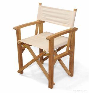 Director's Chair Teak with Sunbrella Fabric Canvas 5453