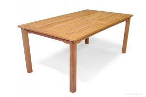 Teak Dining Harvest Rectangular Table 40 inch X 70 inch - Solid Teak