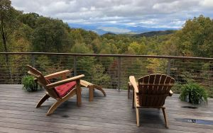 Teak Adirondack Chairs on Deck Mountains - Goldenteak