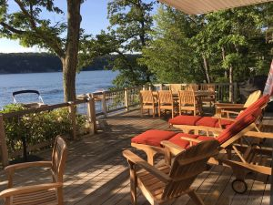 Adirondacks, Chaise Lounges, Teak Dining - Goldenteak Customer Photo