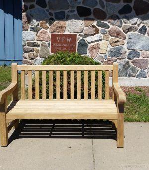 Teak Hyde Park Bench 5ft VFW - Goldenteak Customer Photo