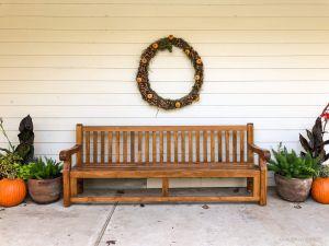 8ft Hyde Park Teak Bench Customer Photo Goldenteak AU