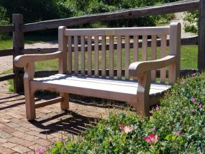 Teak Hyde Park Bench at Old World Wisconsin