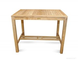 Teak Bar Height Dining Table 48 in. - Hyannis Collection