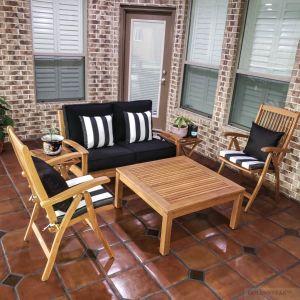 Teak Conversation Set - Deep Seating, Recliner, Coffee Table - Goldenteak Customer Photo