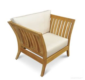 Teak Deep Seating Club Chair Fan Back - Nevis Island Estate Collection