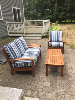 Deep Seating Sofa, Club Chair, Coffee and End Table - Customer Photo Goldenteak