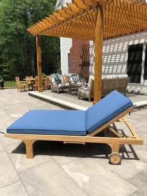 Teak Double Chaise Lounge Customer Photo - Goldenteak