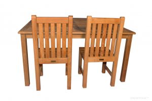 Teak 60 inch Square Dining Table