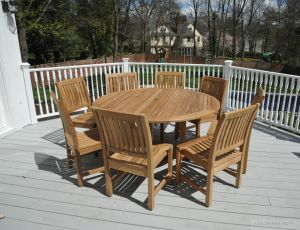 Teak Patio Dining Set for 8 Cust Photo Goldenteak