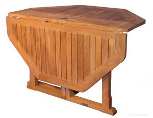 Teak Octagon Collapsible Table 48 in