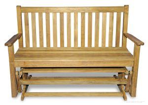 Teak Glider Bench 4.5 ft |  Premium Teak Hampstead Collection