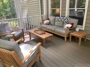 Deep Seating Conversation Set in Teak - Outdoor - Goldenteak Customer Photo
