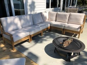 Deep Seating Sectional Photo with extra CC2 - Goldenteak