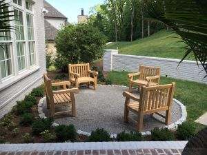 Teak Hyde Park Chairs Firepit - Goldenteak Customer Photo