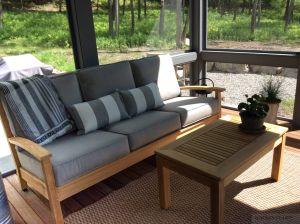 Teak Deep Seating in 3 Seasons Porch - Customer-Photo | Goldenteak