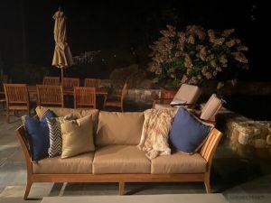 Teak Deep Seating Sofa Nevis Island Collection - Customer Photo & Review Goldenteak